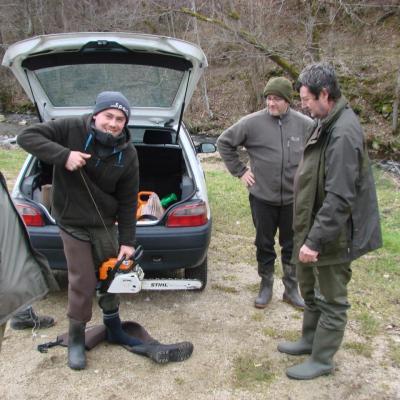 Nettoyage de L'Auze au Chambonnet (Versilhac 43), le 01 Mars 2014