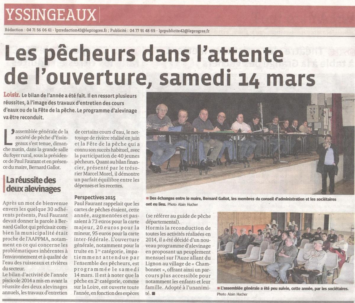 Article de presse Le Progrès AG 2015